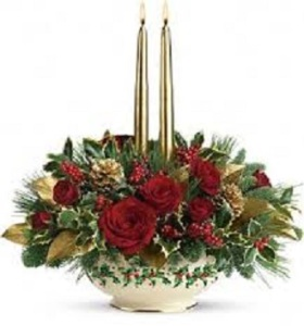 Lenox Holly Bowl Bouquet