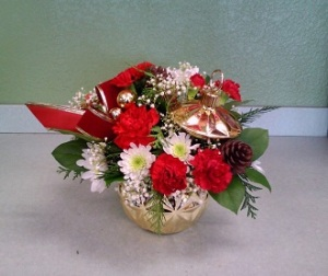 Golden Ornament Bouquet