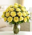 The 2 Dozen Long Stem Yellow Rose Bouquet