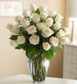 The 2 Dozen Long Stem White Rose Bouquet