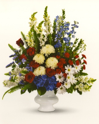 Sympathy Arrangement Red, white & Blue 23ASA