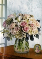 White & Pink Vase Arrangement 11BVA