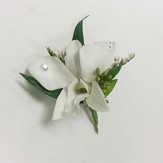 White Diamond Boutonniere