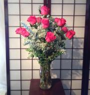 Premium Dozen Pink Roses