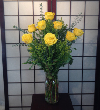 Premium Dozen Yellow Roses