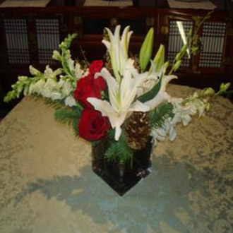 Modern Christmas Centerpiece