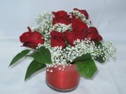 Petite Red Roses arrangement