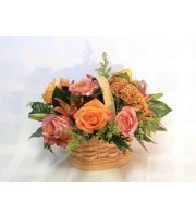 Thanksgiving Rose Basket
