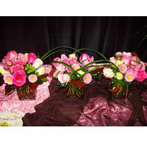 Pink Triplet Centerpiece
