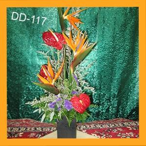 Vase of Tropical Flowers