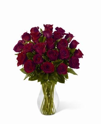 24 Red Roses in Vase