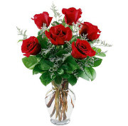 6 RED ROSES ARRANGED