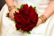ALL RED ROSE BRIDAL BOUQUET 12 ROSES