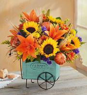FALL FLOWER CART