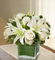 ALL WHITE CUBE ARRANGEMENT