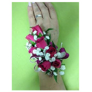 HOT PINK ROSE CORSAGE