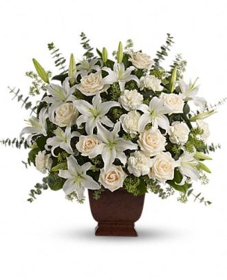Loving Lilies and Rose Bouquet