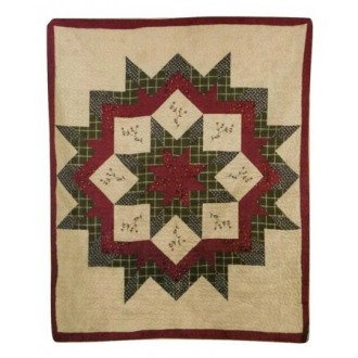 Quilted Throw - Rustic Star
