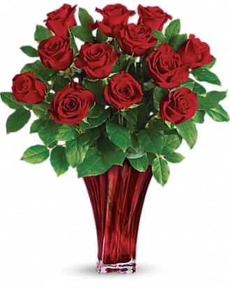 Love\'s Red Roses (vase not available, substitution can be made)