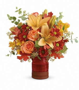 Teleflora\'s Harvest Crock Bouquet