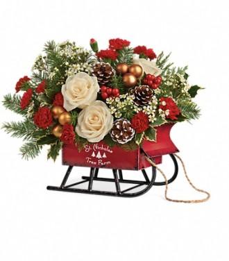 Teleflora\'s Joyful Sleigh Bouquet