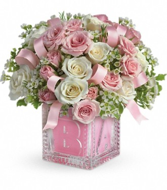 Baby\'s First Block by Teleflora - Pink