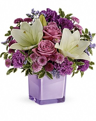 Teleflora\'s Pleasing Purple Bouquet