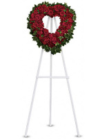 Teleflora's Blessed Heart  Open Heart Wreath