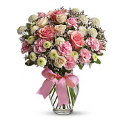 TELEFLORA'S COTTON CANDY WITH PINK ROSES