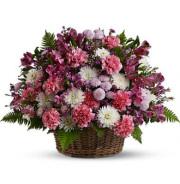 Teleflora�s Garden Basket Blooms