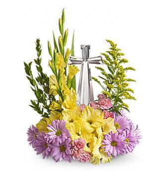 Teleflora's Crystal Cross Bouquet