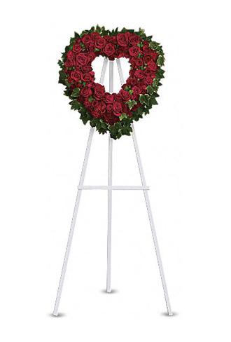 Teleflora's Blessed Heart Open Heart Wreath