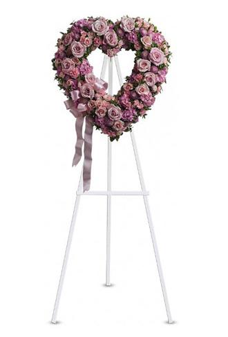 Teleflora's Rose Garden Open Heart Wreath
