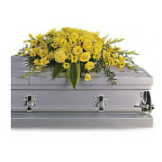 Teleflora's Graceful Grandeur Casket Spray