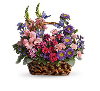 Teleflora's Country Blooms Basket