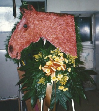 Flowered Horse Head