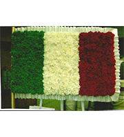 Flowered Italy Flag