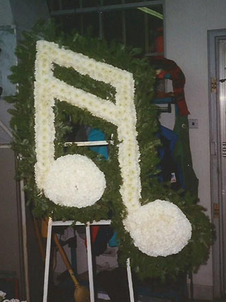 Flowered Music Note