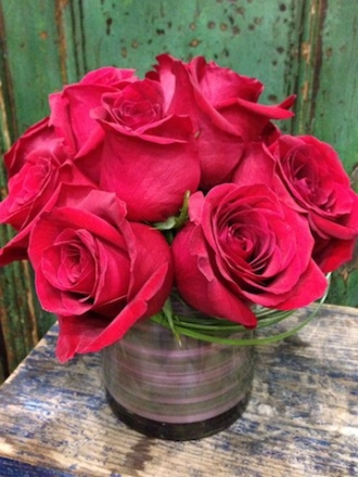Lush Red Roses