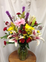 Springy Vase Arrangement