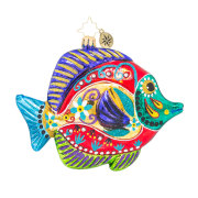Christopher Radko Fish With A Flourish Ornament