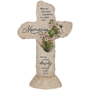 Heavenly Lights LED Pedestal Cross Memories
