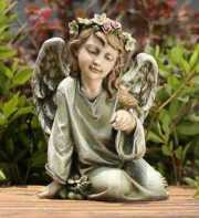 Sitting Angel with Bird