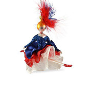 De Carlini Can-Can Lady Dancer Ornament