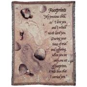 Footprints Throw