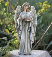 ANGEL WITH BLUEBIRD NEST