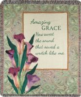 COMFORT THROW- Amazing grace lilies