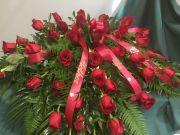 Casket Spray- Red Roses
