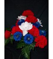 Patriotic Grave Vase