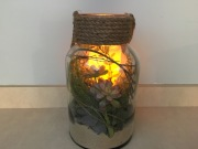 Lighted LED Candle Terrarium